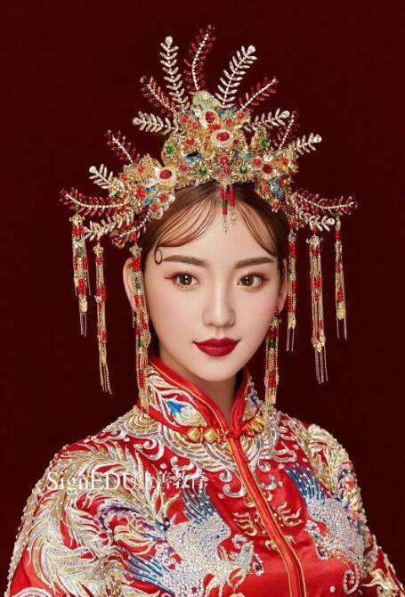 丽人学子作品中式新娘妆