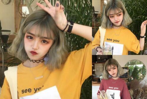 相信到2018年这种刘海的短发依然会很火的,修剪到脖子长度的短发,加上